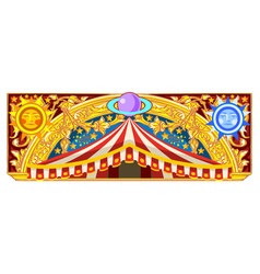 carnival banner for birthday card vector image vector image