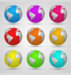 colored planet earth vector image vector image