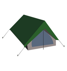 Isolated camping tent in flat vector