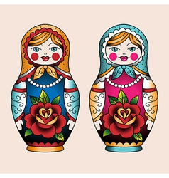 russian dolly vector image vector image