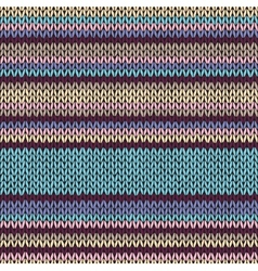 Seamless Color Striped Knitted Pattern vector image