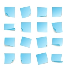 Set of big collection paper curled corners of vector image vector image