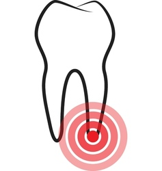 Sick tooth vector image vector image
