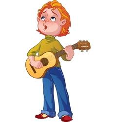 Boy with a guitar vector