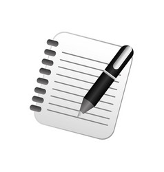 color notebook with pen icon vector image