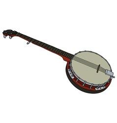 Five string banjo vector image vector image