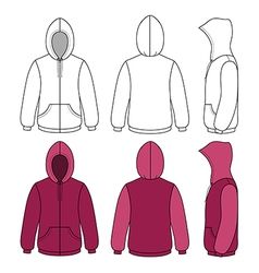 Hoodie sweater template vector image