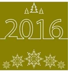 Merry Christmas and Happy New Year for 2016 vector image vector image