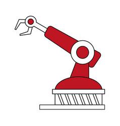Color silhouette cartoon industrial mechanical vector