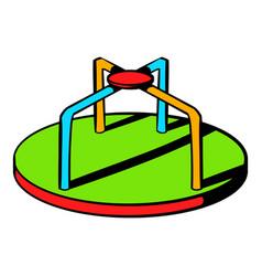 Colorful merry-go-round icon icon cartoon vector