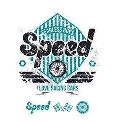Emblem of the racing car in retro style vector image vector image