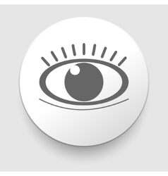 Eye icon - Simple vector image vector image