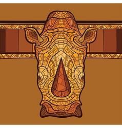 Rhinoceros head with ethnic ornament vector image vector image