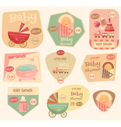 baby stickers layered vector image