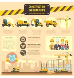 Construction infographic template with vector image vector image