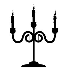 isolated chandelier silhouette vector image