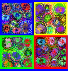 round spiral overlapping of different colors vector image