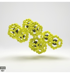 3D Molecule Structure Futuristic Technology Style vector