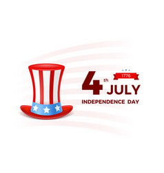 4th july with usa flag independence day banner vector image