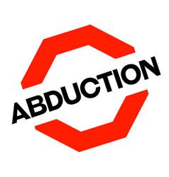 Abduction sticker stamp vector