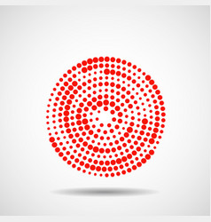 Abstract dotted circles vector
