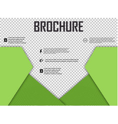 Abstract layout brochure cover design info text vector