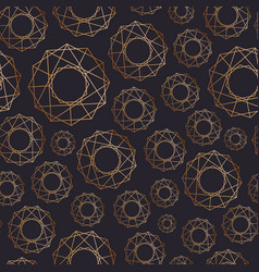 abstract seamless pattern with geometric shapes of vector image