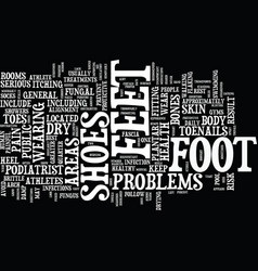 Athletes at greater risk for foot problems text vector