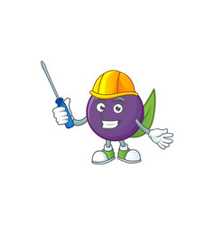 Automotive acai berries character for fresh fruit vector