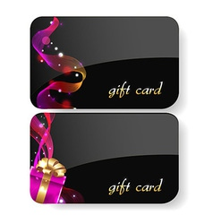 Black gift card set vector