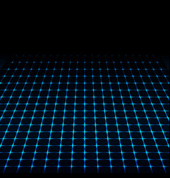 Blue neon tech squares design vector