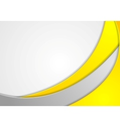 Bright wavy corporate abstract design vector