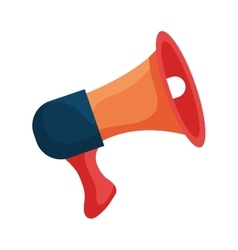 Bullhorn or megaphone colorful icon design vector image