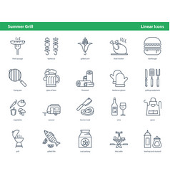car parts icons - set 05 vector image