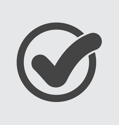 check mark button icon flat vector image