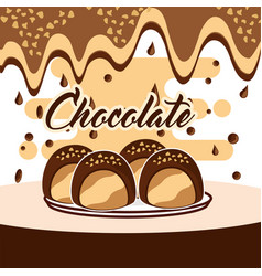 Chocolate candy card vector