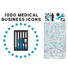 Closed Prisoner Icon with 1000 Medical Business vector image