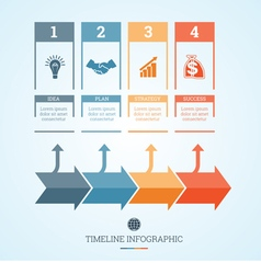 Conceptual Business Timeline Infographic 4 vector