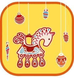 Decoration horse vector