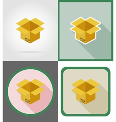delivery flat icons 04 vector image