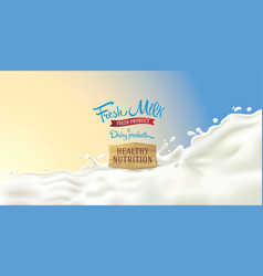 design elements for label or packaging dairy vector image