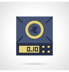 Digital scales flat color icon vector image