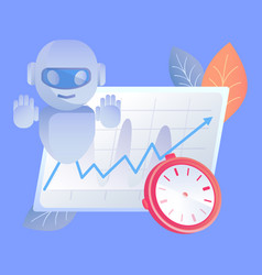 Digital time manager flat vector