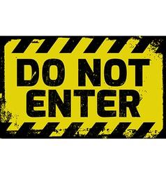Do not enter sign vector