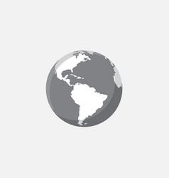 earth icon design globe icon design vector image