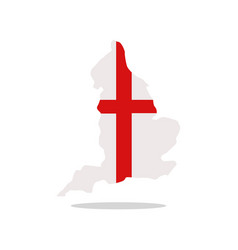england map with flag vector image