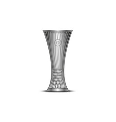 Europa conference league cup football trophy vector