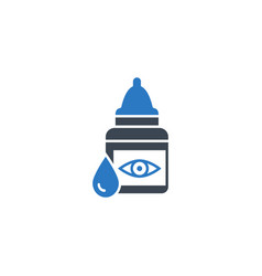 eye drops related glyph icon vector image