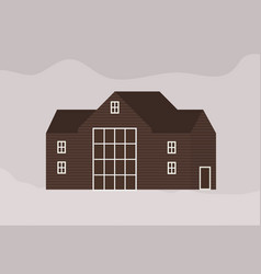 facade modern living town house or cottage in vector image