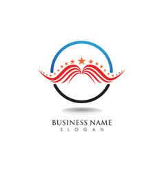 falcon eagle bird logo template icons wing vector image